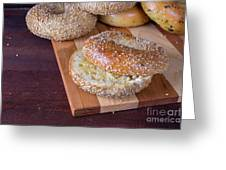 Fresh Sesame Bagel Greeting Card