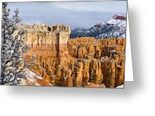 Fresh Snow At Bryce Greeting Card