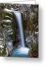 Fresh Snow In Christine Falls Greeting Card