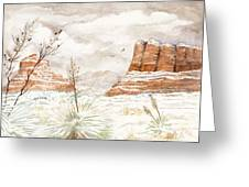 Fresh Snow On Bell Rock Greeting Card