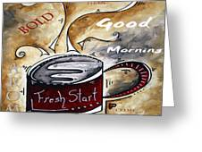 Fresh Start Original Painting Madart Greeting Card by Megan Duncanson