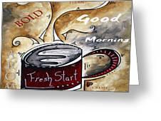 Fresh Start Original Painting Madart Greeting Card