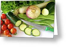 Fresh Vegetables Greeting Card