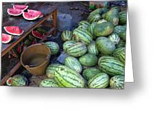 Fresh Watermelons For Sale Greeting Card