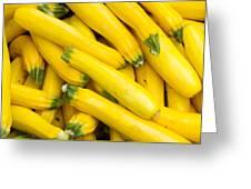 Fresh Yellow Squash  Greeting Card