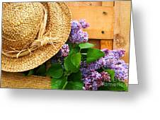 Freshly Picked Lilacs Greeting Card