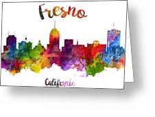 Fresno California Skyline 23 Greeting Card