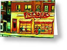 Fressers Takeout Deli Greeting Card