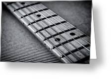 Fret Board In Black And White Greeting Card