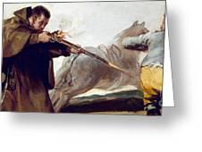 Friar Pedro Shoots El Maragato As His Horse Runs Off Greeting Card