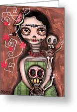 Frida Day Of The Dead Greeting Card