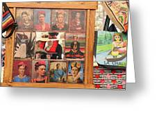 Frida Kahlo Display Picts Greeting Card