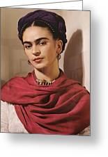 Frida Kahlo Live Greeting Card