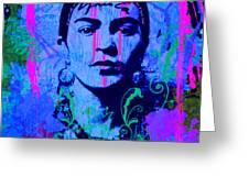 Frida Kahlo Street Pop Art No.1 Greeting Card