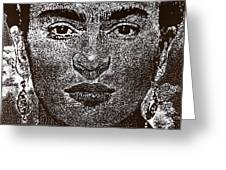 Frida Khalo Greeting Card by Max Eberle