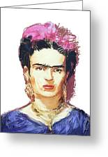 Frida Greeting Card by Russell Pierce