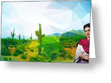 Frida Sonora Greeting Card by MB Dallocchio