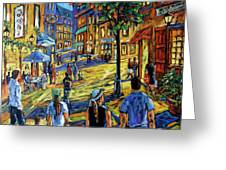 Friday Night Walk Prankearts Fine Arts Greeting Card