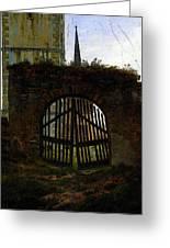 Friedrich Caspar David The Cemetery Gate Greeting Card
