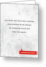 Friedrich Nietzsche Quotes - Literary Quotes - Book Lover Gifts - Typewriter Quotes Greeting Card