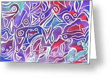 Friendly Maze Greeting Card