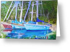Friends Anchored Greeting Card