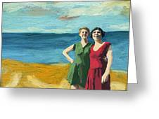 Friends On The Beach Greeting Card