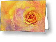 Friendship Rose Textured Greeting Card