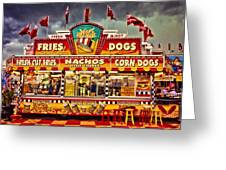 Fries Nachos Dogs Greeting Card