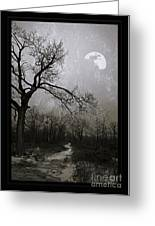 Frigid Moonlit Night Greeting Card