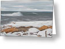 Frigid Waves Greeting Card
