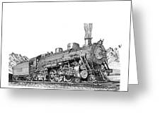 Steam Driven Locomotive Greeting Card