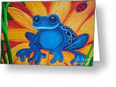 Frog And Lady Bug Greeting Card