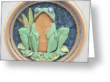 Frog Ceramic Plaque Greeting Card