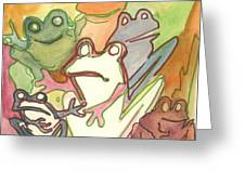 Frog Group Portrait Greeting Card