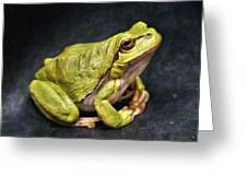 Frog - Id 16236-105016-7750 Greeting Card
