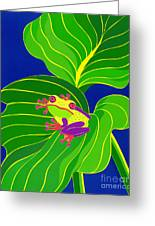 Frog On Leaf Greeting Card