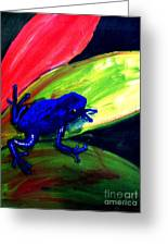 Frog On Leaf Greeting Card