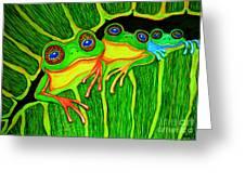 Froggie Trio Greeting Card