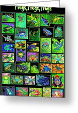 Frogs Poster Greeting Card