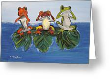 Frogs Without Sense Greeting Card