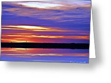 From A Distance  Sundown Greeting Card