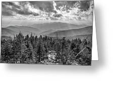 From Clingmans Dome Greeting Card