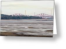 From Cramond To Forth Bridge, Forth Road Bridge, And Forth Crossing Greeting Card