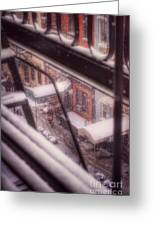 From My Window - Braving The Snow Greeting Card