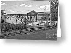 From Old To New In Bedford County Black And White Greeting Card