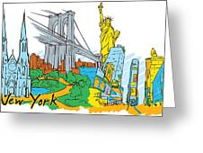 From Old To New York Greeting Card