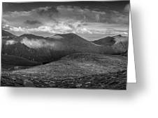 From Slieve Bearnagh Panorama To The South Greeting Card