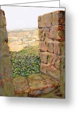 From The Castle Walls Greeting Card
