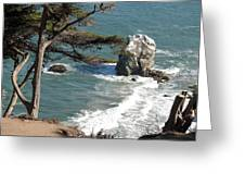 From The Cliff Of Lands' End Greeting Card